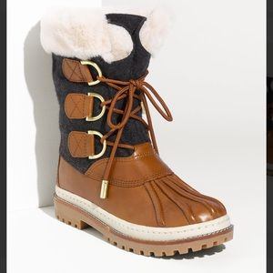 Tory Burch Shearling Duck Boots