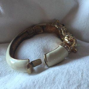 J. Crew Jewelry - J.Crew white enamel bracelet