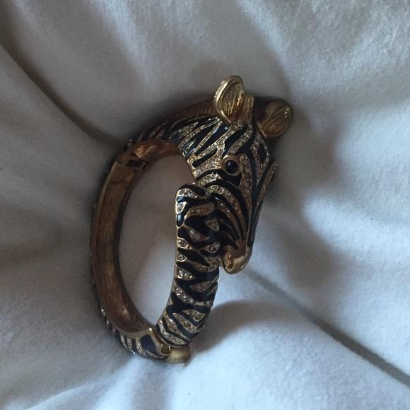 J. Crew Jewelry - J.Crew zebra enamel bracelet