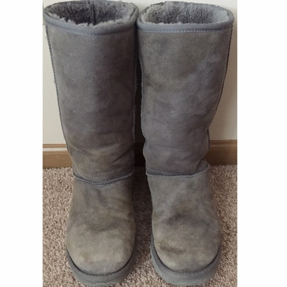 classic tall gray uggs