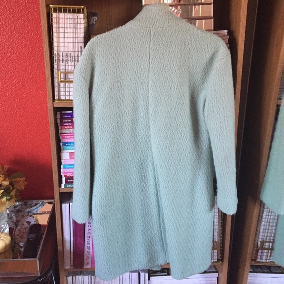 Jackets & Coats - SheInside seafoam green coat