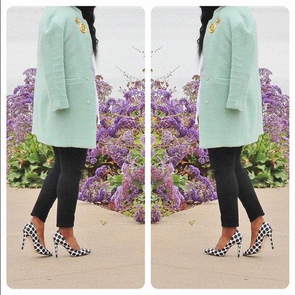 Jackets & Blazers - SheInside seafoam green coat