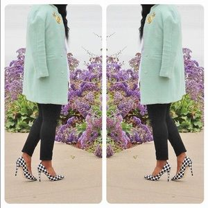 Jackets & Coats - SheInside seafoam green coat