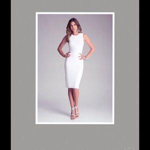 328bb79880 bebe Dresses | White Bodycon Midi Dress New With Both Tags | Poshmark