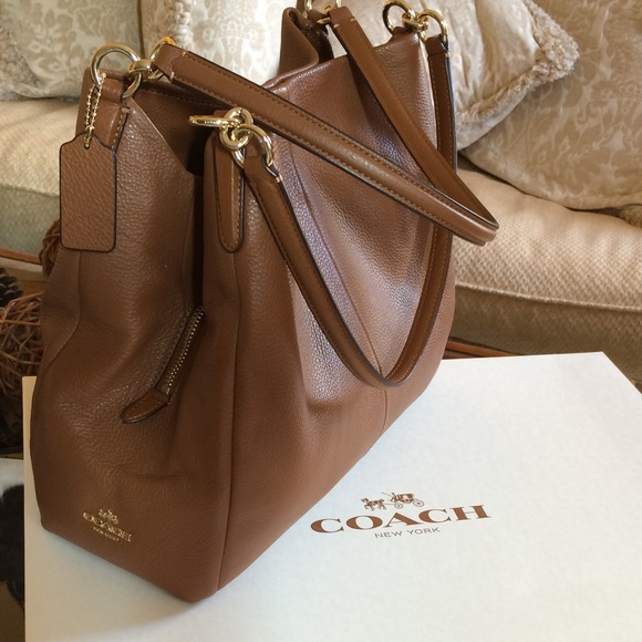 43 Off Coach Handbags Coach Phoebe Shoulder Bag In Pebble Leather From Griselda S Closet On