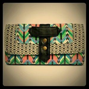 Tribal ethnic wallet NWT geometric pattern