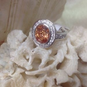 Jewelry - 🌺Gorgeous Citrine & White Topaz Sterling Silver