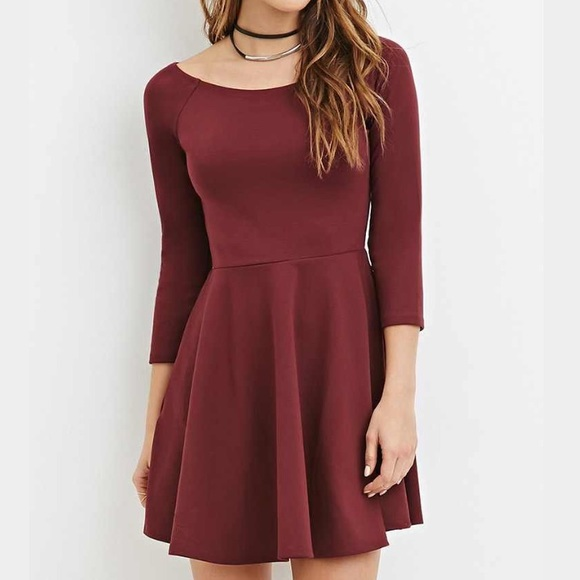 91d8c5d7a45 Forever 21 Dresses   Skirts - SALE🎉 NEW Burgundy dress