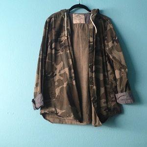 camo printed light jacket