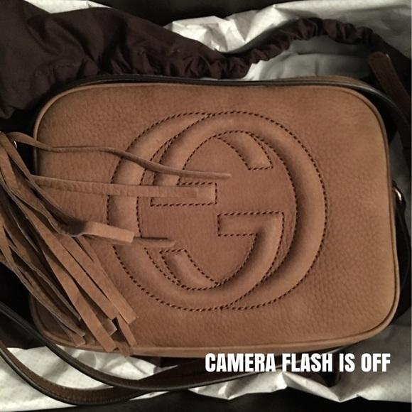660dfc90e87 Gucci Handbags - Gucci Soho Disco Bag Nubuck Leather
