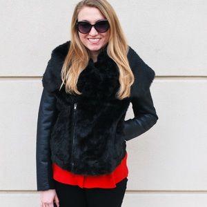 Simply Vera Vera Wang Jackets & Blazers - Black Faux Fur Simply Vera Wang Jacket