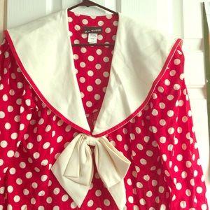 Vintage 80's polka dot dress