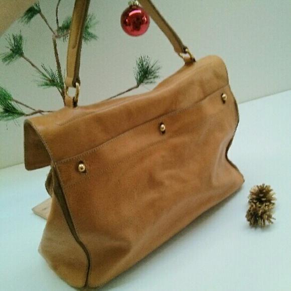75% off Yves Saint Laurent Handbags - Yves Saint Laurent Caramel ...