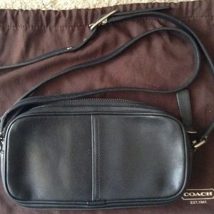 Coach Handbags - Authentic Black Leather Coach Crossbody Bag
