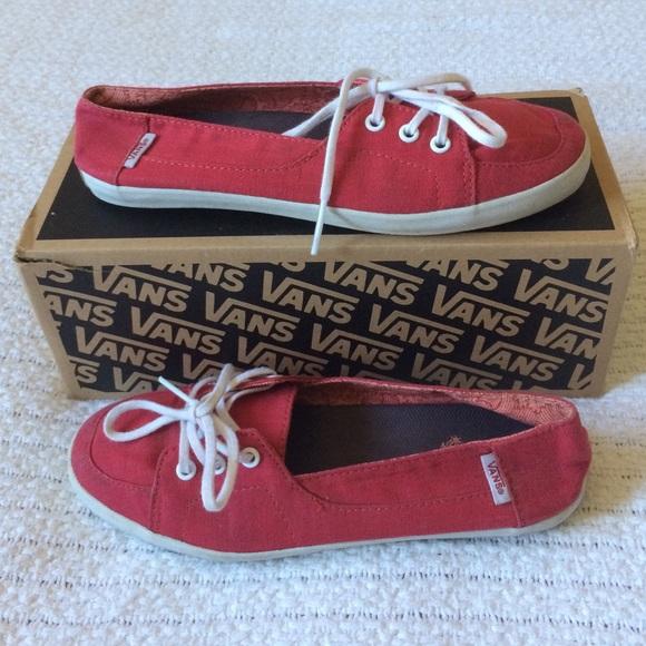 860a420380 Red Vans Surf Sider Slip Ons. M 5658b62df739bcf7d000280d
