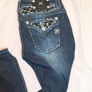 Miss Me Pants - Miss Me black sequin jean