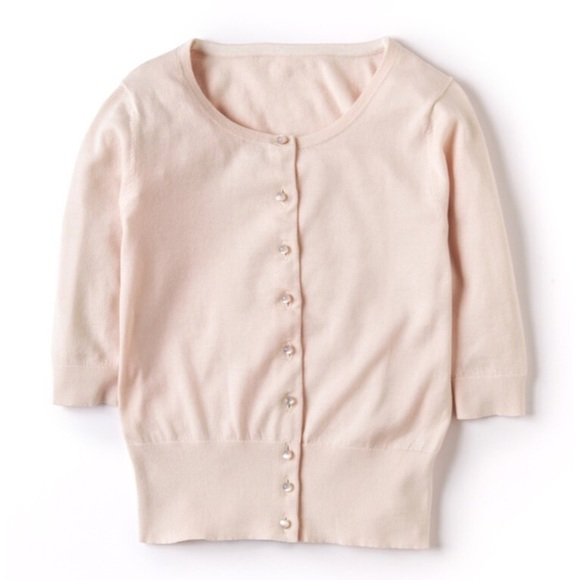 75% off Boden Sweaters - Cropped Boden Cashmere Sweater light pink ...