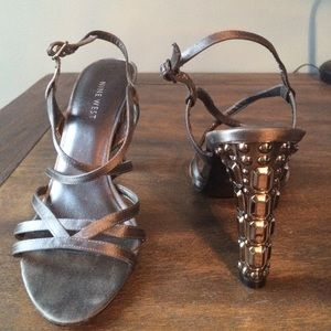 Nine West Shoes - Nine West silver heels