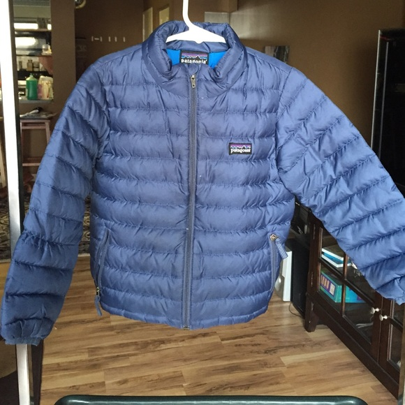 Patagonia Jackets Coats Kids Blue Puffer Baby Down Jacket Poshmark