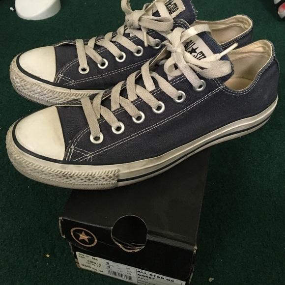 d9d92b4426e1 Converse Shoes - Navy blue converse all star chucks size 8