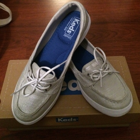 3296448eed keds Shoes - Keds Silver Glimmer Boat Shoes
