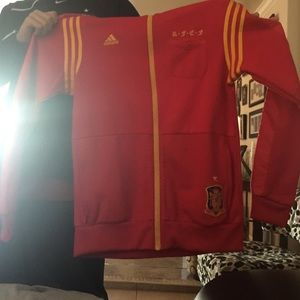 Soccer Red and yellow Adidas Spain game jacket