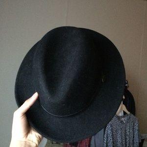 893e7d0fd Obey wide brim felt fedora mens hat