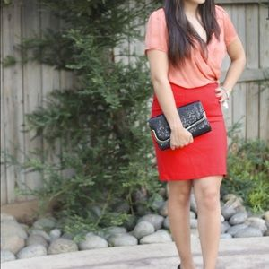 H&M Dresses & Skirts - HM deep red pencil skirt