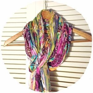 Cynthia Rowley Accessories - 💟JUST ADDED!💟 Colorful Lightweight Scarf