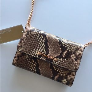 0925777784304 ... MICHAEL Michael Kors Bags - Michael Kors Python leather mini crossbody  bag ...