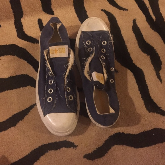 216a974ad95015 Converse Shoes - Navy no lace converse size 7.5