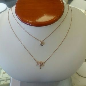 Jewelry - DRAGONFLY SILVER DOUBLE NECKLACE