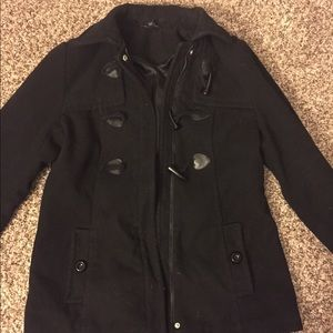 Black peacoat