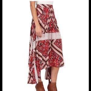 FREE PEOPLE PARADISE PRINTED SKIRT