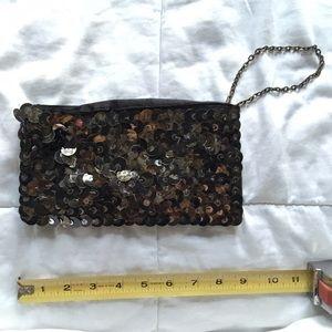 bebe Handbags - Bebe Gold Scales Wristlet