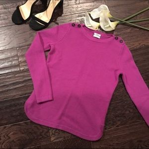 Wallace by Madewell Violet Wool Top
