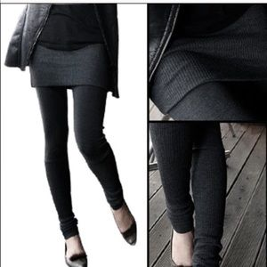 Pants - Black texture leggings RESTOCKED