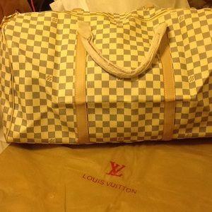 Handbags - Checkered duffle bag