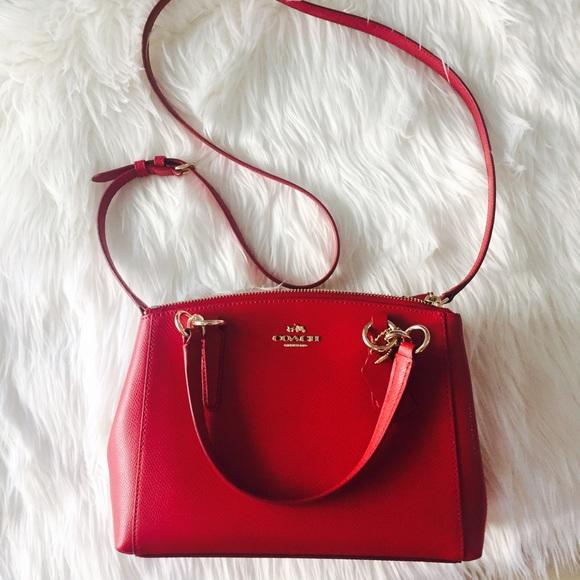 8b35d71c7 Coach Bags   Red Mini Christine   Poshmark