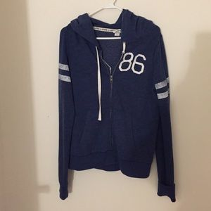 Navy zip up hoodie VS PINK size L