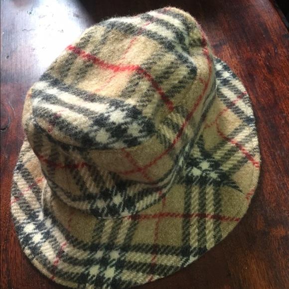 f643e6929ea Burberry Accessories - Auth-BURBERRY Camel Nova Check Wool Bucket Hat