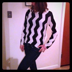Divided Zig Zag Sweater