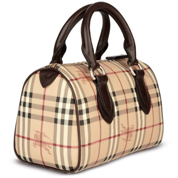 Original Small Burberry Haymarket Bowling Bag