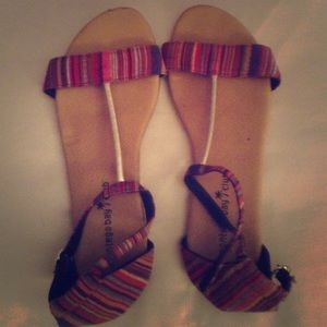 Patterned Sandals Size 6