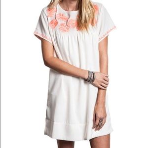 LIMITED TIME PRICE DROP Cream and Coral Dress