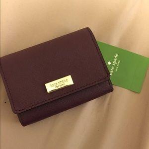 Kate Spade Wine Red Wallet Cardholder
