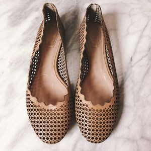 🏴$325🏴Chloé Perforated Scalloped Ballet Flats