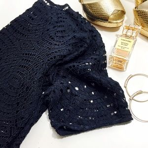 Ann Taylor Tops - Navy Lace Top