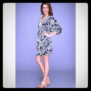 Lilly pulitzer Wild a Navy & White Caftan Dress, S