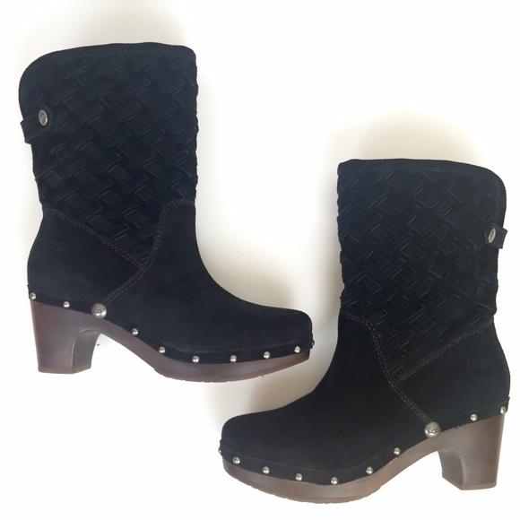 abed2fa566b UGG Lynnea clog boot studded black suede